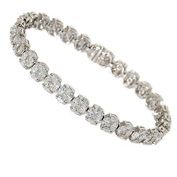 View Diamond Tennis Bracelet Set in 18k White Gold