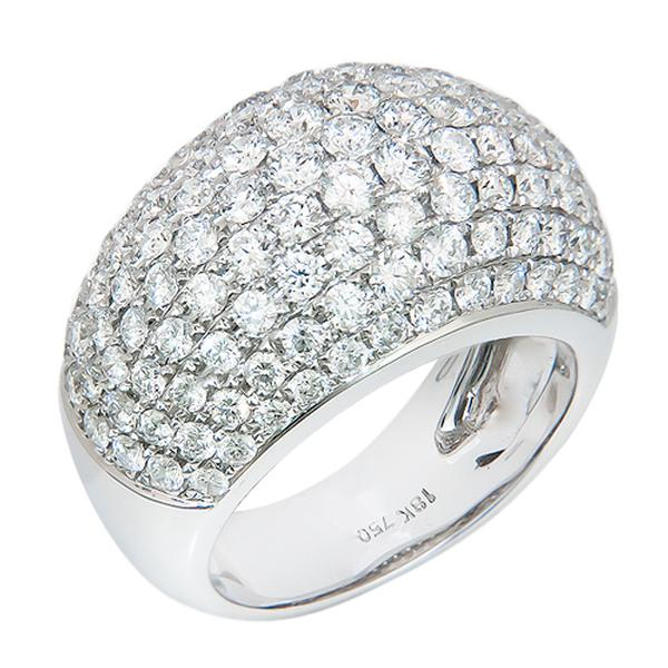 View Micro Pave Diamond Band Set in 18K White Gold