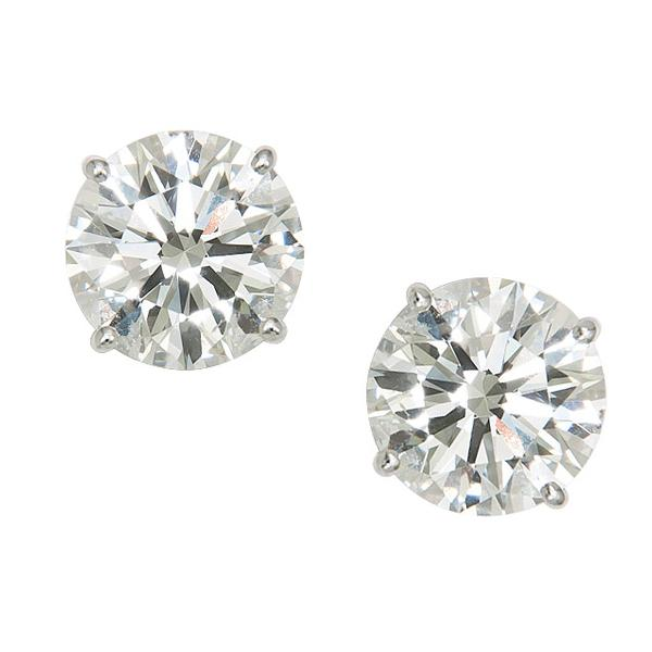 View 14k Diamond Studs Set in 14K White Gold Basket Setting