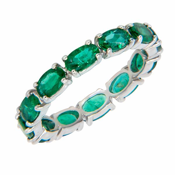 band topleftview emerald bands ct eternity rosegold cut t platinum gold rose w carats d diamond